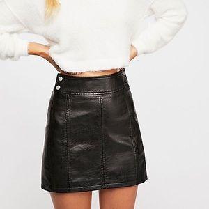 Vegan Leather Mini Skirt